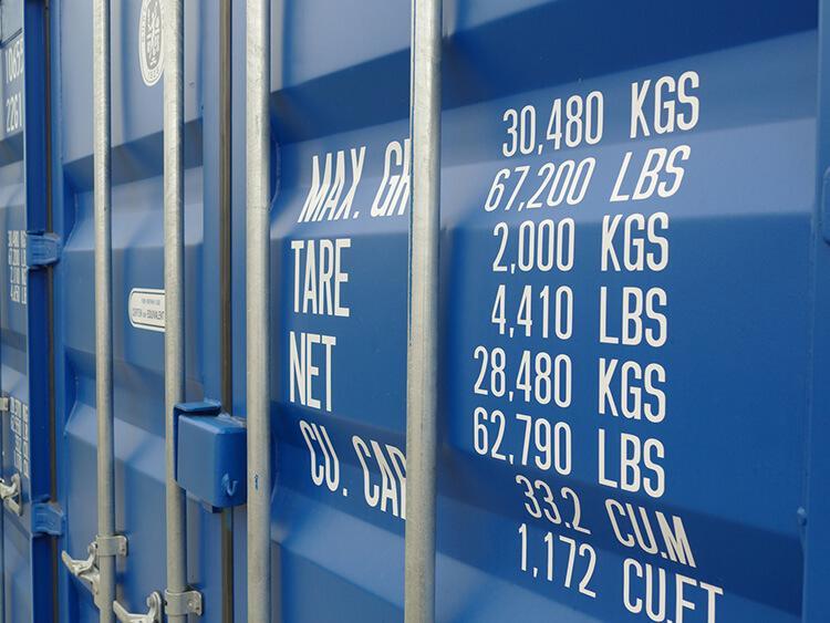 Transport kontenerowy – kontener 20' DV